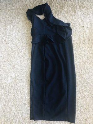 One Shoulder Dress dark blue-blue