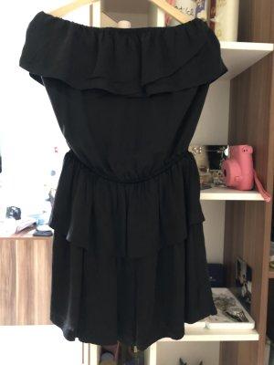 Ba&sh Vestido strapless negro