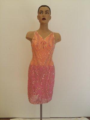 Apart Midi-jurk oranje-rosé