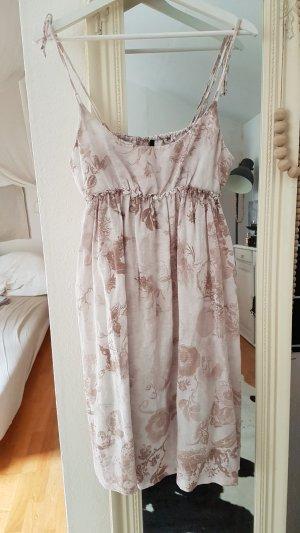Benetton Babydoll Dress natural white-dusky pink