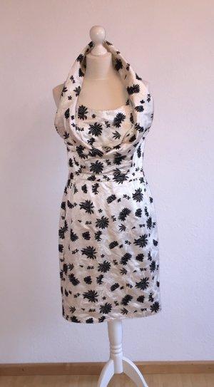 Balenciaga Vestido ceñido de tubo blanco-negro Seda