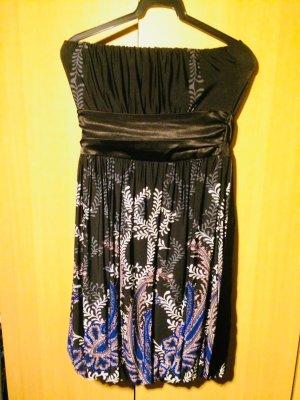 vestido de globo azul oscuro