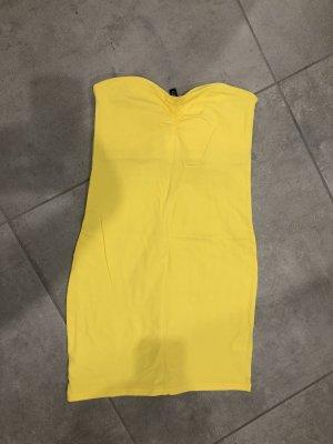H&M Abito a fascia giallo