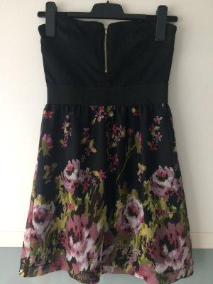 Kleid Bandeau aus Frankreich mit floralem Muster Größe 36