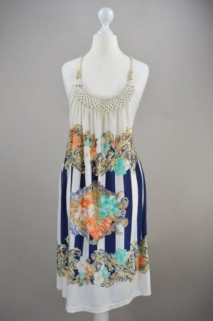 Kleid Bandeau mit Muster mehrfarbig Größe M