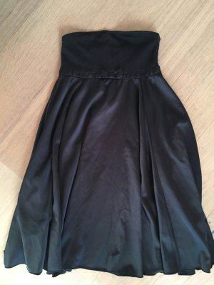 Kleid Bandeaukleid Abendkleid schwarz Silvester Gr. 36 TOP