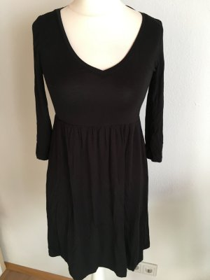 Kleid Basic schwarz Musthave locker 3/4 Ärmel Gr. XS