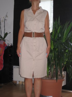 Kleid beige im Safari Look