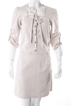 Kleid beige Knopfleiste
