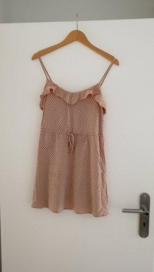 Kleid beige/rosa mit Punkten / dots, H&M, Größe 34