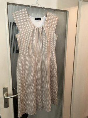 Kleid beige weiß Gr.40