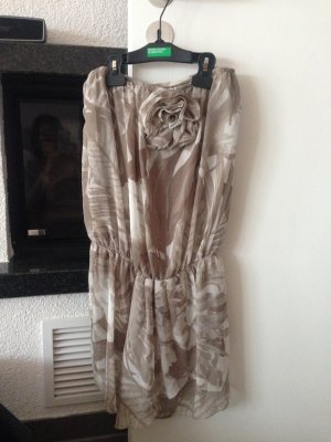 Kleid, Benetton, beige/ braun, Größe XS
