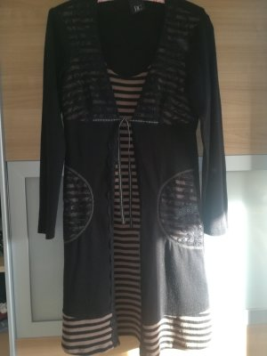 Best Connections Woolen Dress black-beige