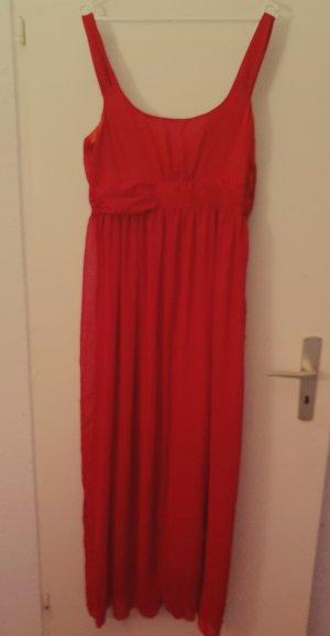 Vestido de chifón rojo