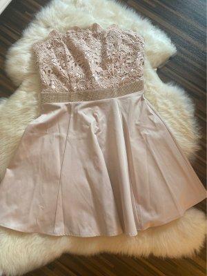 Lipsy Vestido bandeau color rosa dorado-rosa empolvado