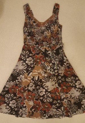 Biba Vestido línea A marrón claro-rojo oscuro