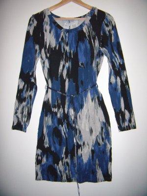 Kleid blau schwarz grau