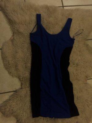 Kleid blau/schwarz mit Reißverschluss
