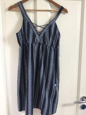 Beach Dress dark blue-white
