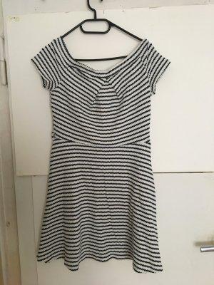 Kleid blau weiß 40 marinelook