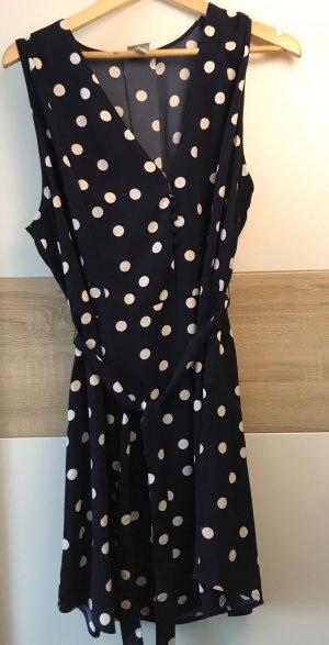 Tunic Dress white-dark blue