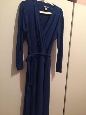 Kleid blau Wickelkleid gr 40 M