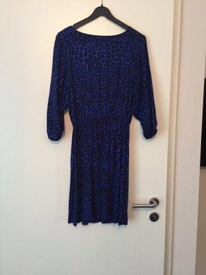 Kleid blauer Leoprint Animal Print