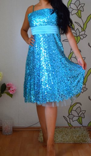 Kleid Blue Magic Pailetten