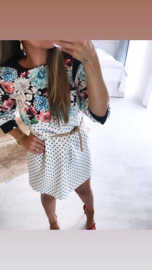 Kleid blümchen gepunktet zara kleidchen