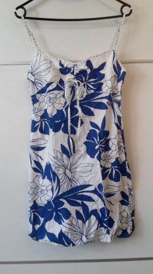 Kleid Blumen blau weiß Roxy