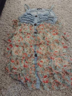 Chiffon jurk blauw