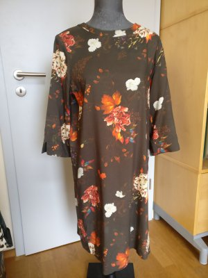 Kleid Blusenkleid von only Gr M braun Blumenprint
