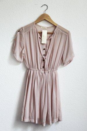 Kleid Blush Rosa Nude Chiffon