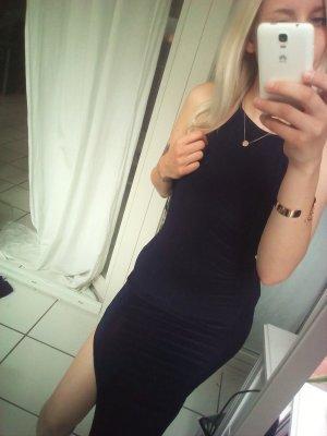 Kleid bodycan Maxikleid Schlitz dunkelblau Asos