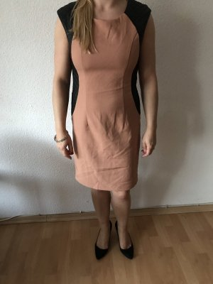 Kleid Bodycon Sanduhr Etuikleid Ledereinsätze
