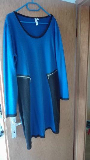 Bodyflirt Wollen jurk zwart-blauw