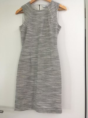Kleid Boucle Mango grau weis schwarz