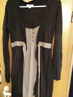 b.p.c. Bonprix Collection Vestito di lana talpa-marrone-grigio