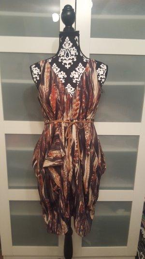Kleid braun rot H&M Größe 34