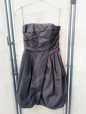 Zara Vestido de noche color bronce-marrón oscuro