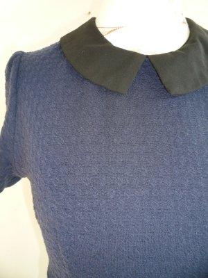 Kleid Bubikragen Retro Vintage 34 XS Primark A-Linie blau