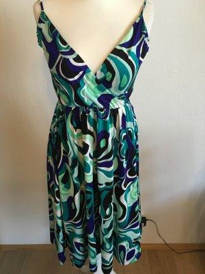 Kleid bunt Sommerkleid sexy Spaghettiträger Gr. 36