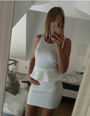 H&M Peplum Dress white-natural white