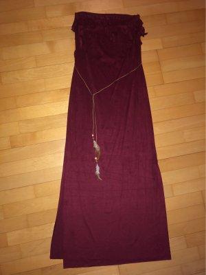 Off-The-Shoulder Dress bordeaux