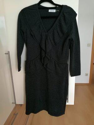 Calvin Klein Gebreide jurk antraciet-donkergrijs