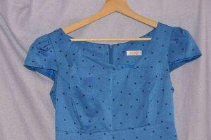 Orsay Robe de soirée bleu tissu mixte