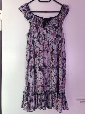 Blue Seven Vestido color plata-rosa claro