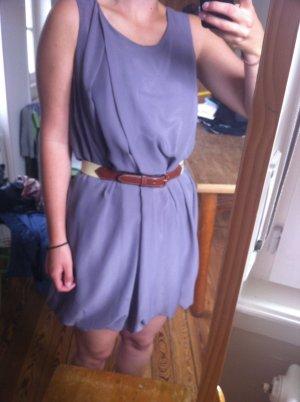 Kleid Chiffon grau taupe Gr. S