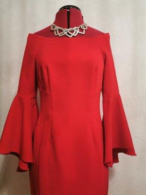 Coast Midi Dress brick red