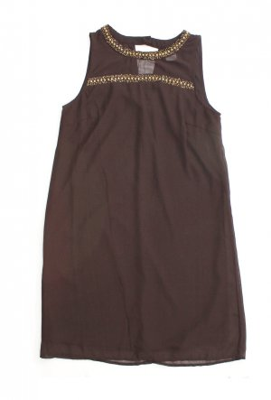 Kleid Cocktailkleid 38 - Kleid A-Linie braun, gold, metallic